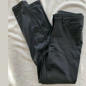 Boden High Rise Super Skinny Jeans Black Waxed